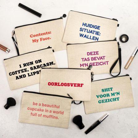 Personaliseerbaar make-up tasje