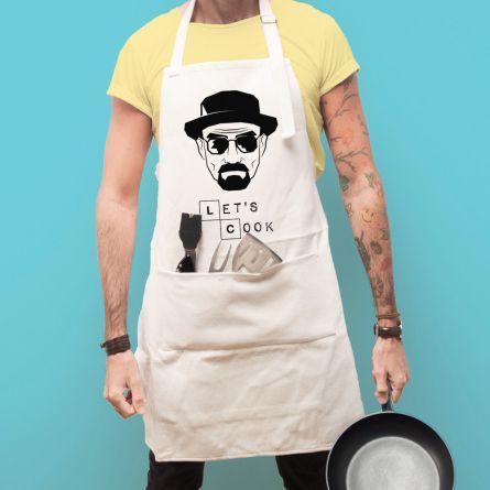 Let's Cook keukenschort