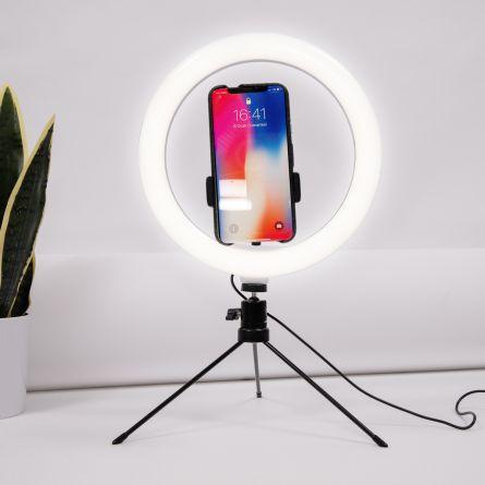 Selfie statief met LED-ring