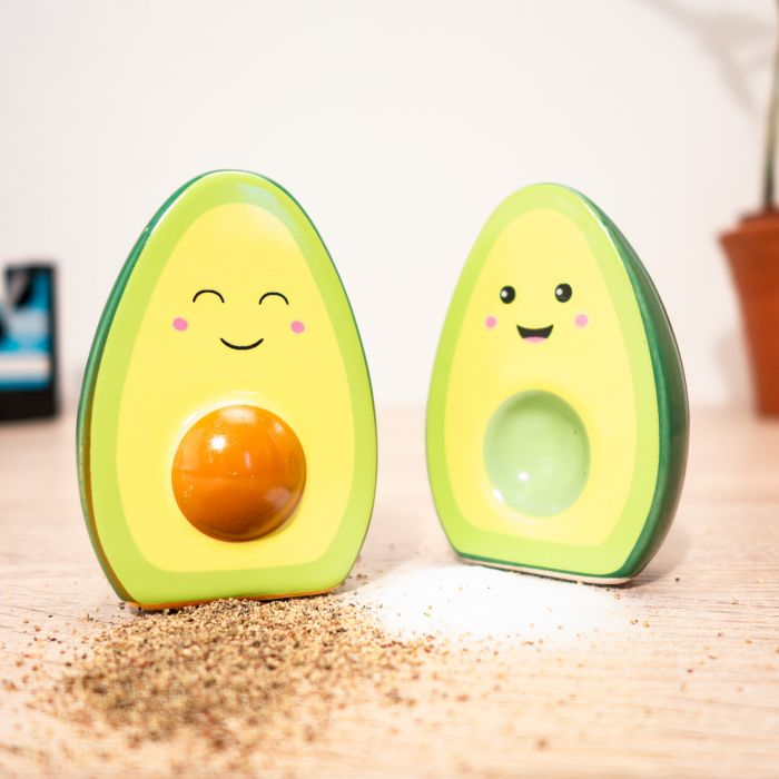 Happy avocado zout en peper vaatjes