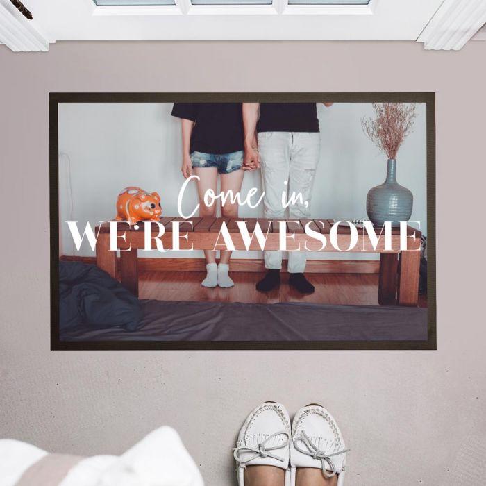 Personaliseerbare deurmat met foto