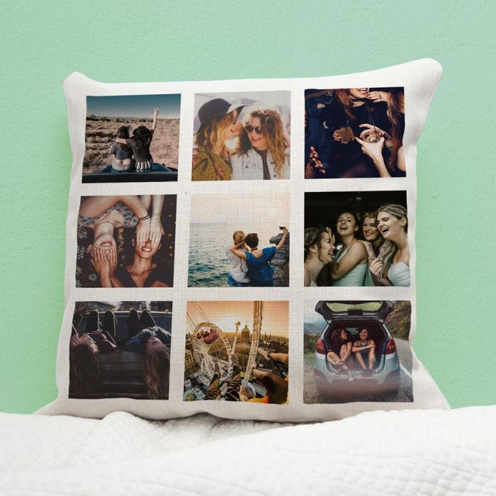 Personaliseerbare kussensloop met 9 foto's
