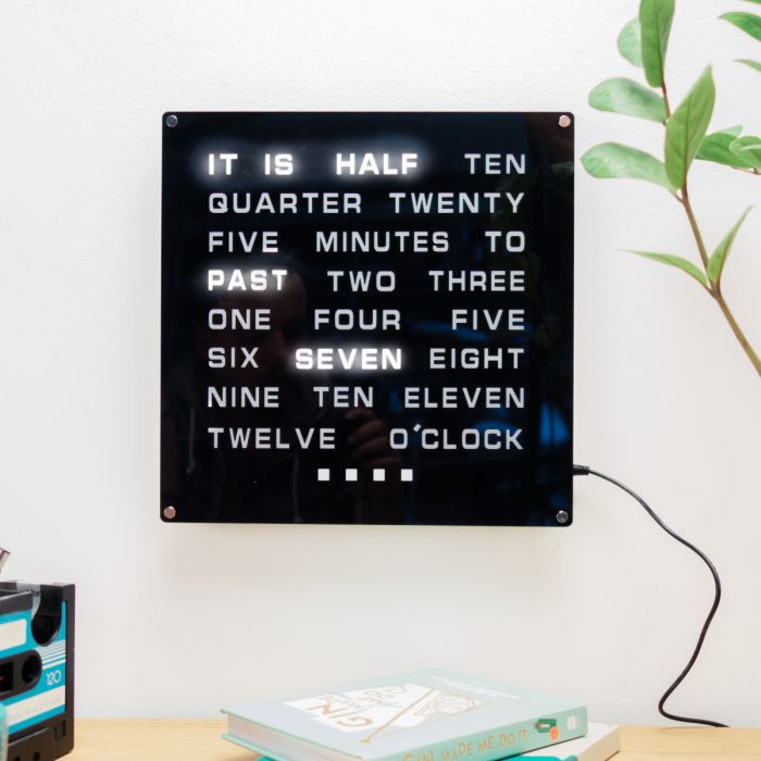LED WORD Klok Maxi