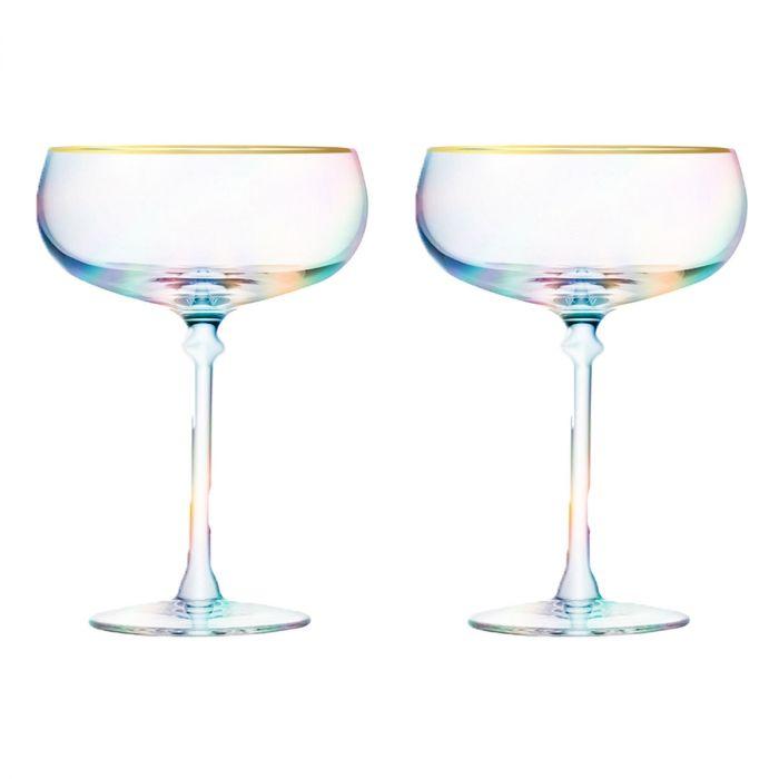 Martini cocktailglazen in set van 2