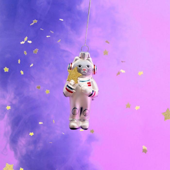 Astronautkat Kerstboomversiering