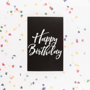 De eindeloze verjaardagskaart met glitters