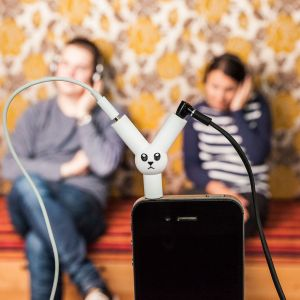 Jack Rabbit koptelefoon-splitter