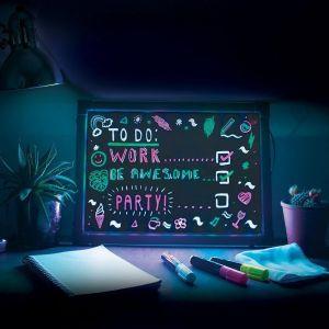 Schrijfbord met neon-effect