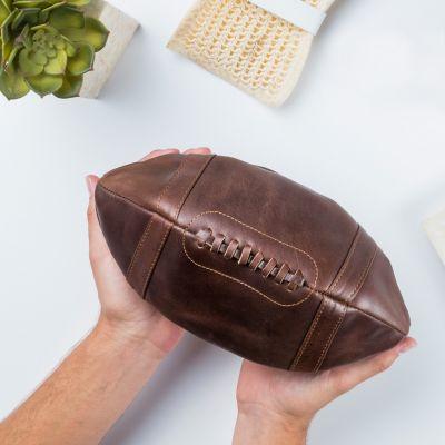 Verjaardagscadeau voor vader - Lederen American Football tasje