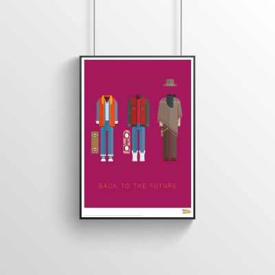Film & Serie - Back To The Future – Filmposter met outfits