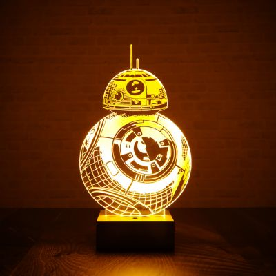 Top 50 voor mannen - Star Wars BB-8 Lamp met 3D Effect