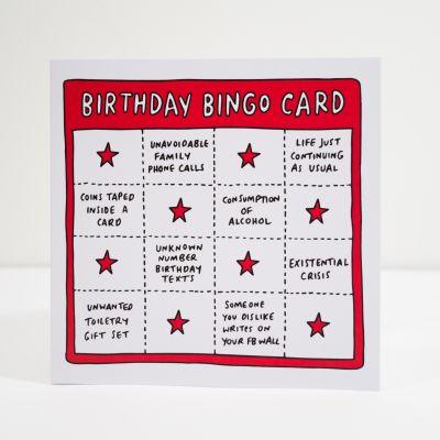 Kaarten - Birthday bingo wenskaart