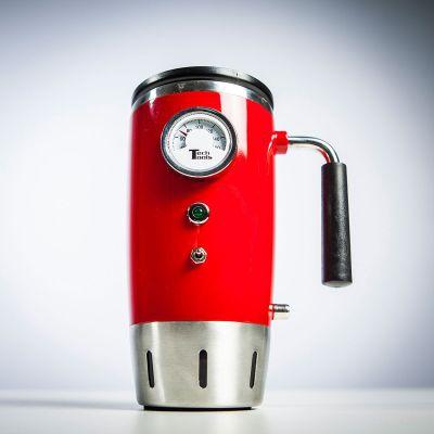 Paascadeau - Verwarmde retro drinkbeker met thermometer