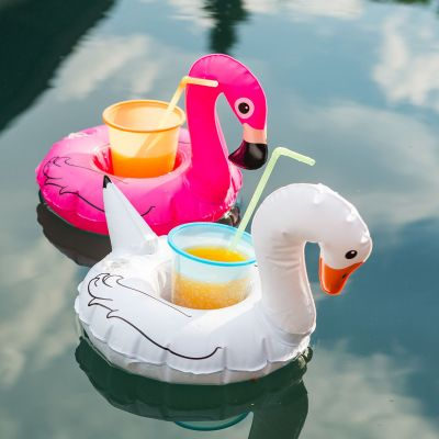 Zomer gadgets - Set van 3 zwemmende vogel bekerhouders