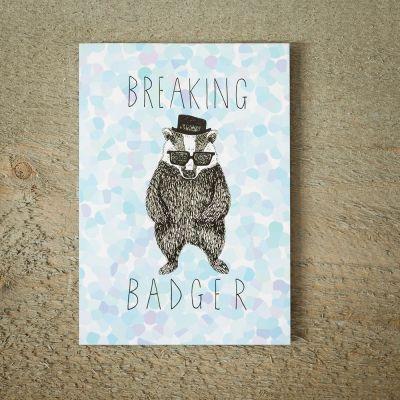 Kaarten - Breaking Badger wenskaart