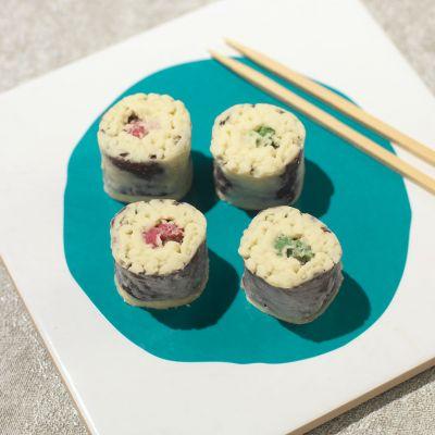 Verjaardagscadeau voor vader - Chocolade sushi