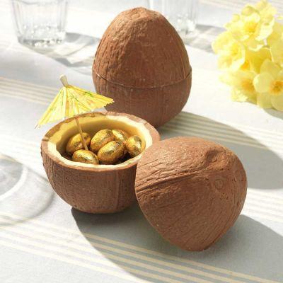 Cadeau voor kinderen - Chocolade kokosnoot met mini chocolade eieren