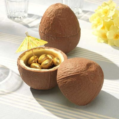 Paascadeau - Chocolade kokosnoot met mini chocolade eieren