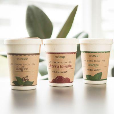 Verjaardagscadeau voor moeder - Ecocup – Planten in koffiebekers