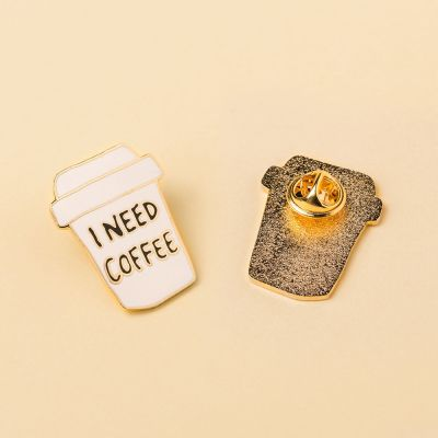 Kleding & accesoires - I Need Coffee pin
