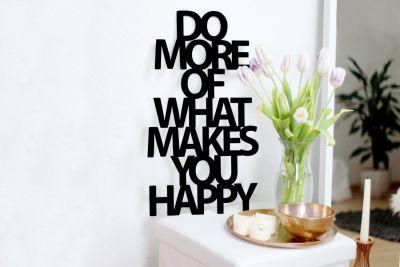 "Huwelijkscadeau - Houtdecoratie ""Do more of what makes you happy"""