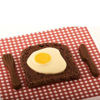 Verjaardagscadeau voor vader - Bacon & Egg van chocolade