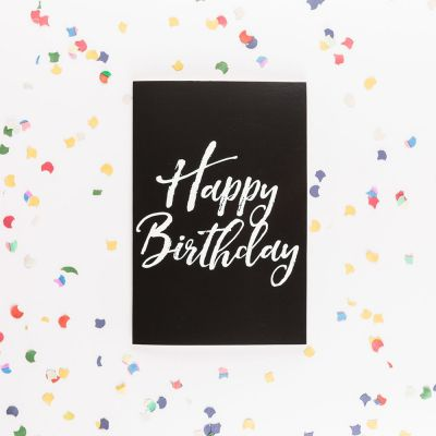 Verjaardagscadeaus voor 18 - De eindeloze verjaardagskaart met glitters