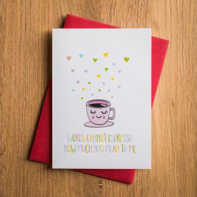 Kleine cadeautjes - Valentijnskaart Espresso