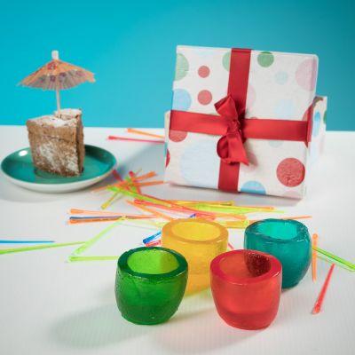 Verjaardagscadeau voor 40 - Eetbare fruitgummi shotglaasjes