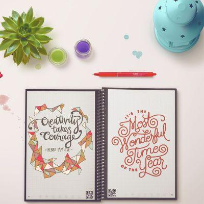 Plezier op kantoor - Herbruikbaar notitieboekje Everlast met smartphone app