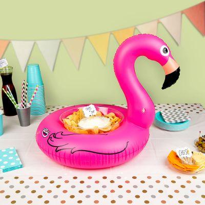 Strand & Water - Opblaasbare mini flamingo snackbar