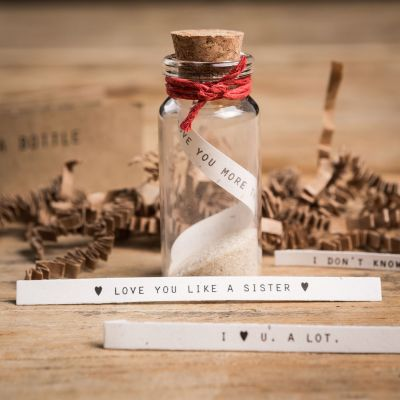 Romantisch cadeau - Flessenpost Sets
