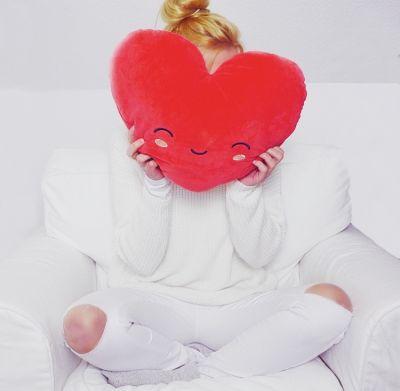 Romantisch cadeau - Verwarmbaar hart-kussen
