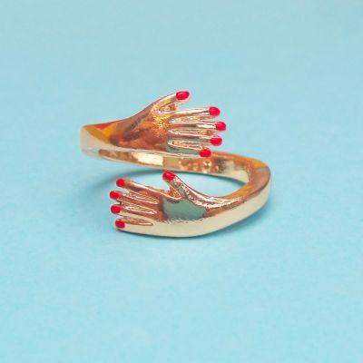 Kleding & accesoires - Omarmende ring van goud
