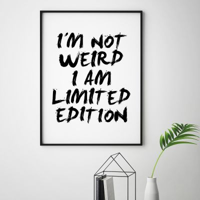 Posters - I Am Limited Edition Poster van MottosPrint