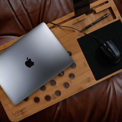 Verjaardagscadeau voor moeder - Laptop onderzetter van hout