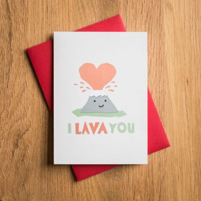 Romantisch cadeau - Valentijnskaart I Lava You