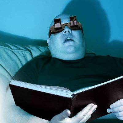 Cadeau voor vriendin  - Hoekbril voor het lezen tijdens het liggen