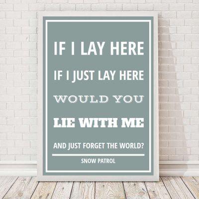 Romantisch cadeau - Songteksten - personaliseerbare poster