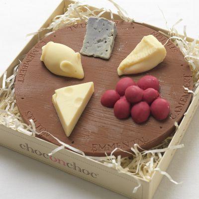Verjaardagscadeau voor vader - Kaasplank van chocolade