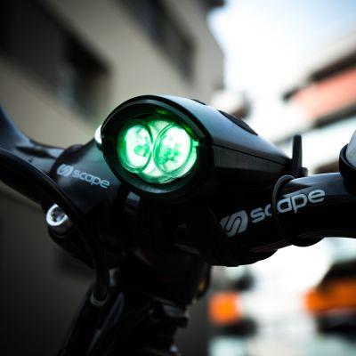 Fitness & Funsports - Mini Hornit fietslicht met geluid