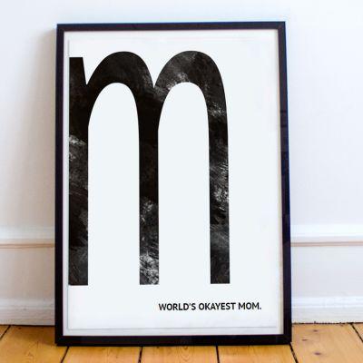 Verjaardagscadeau voor vader - Monogram - personaliseerbare poster