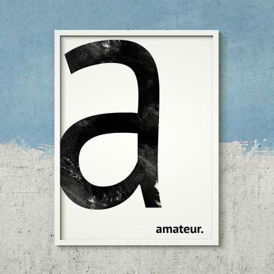 Exclusieve posters - Monogram - personaliseerbare poster