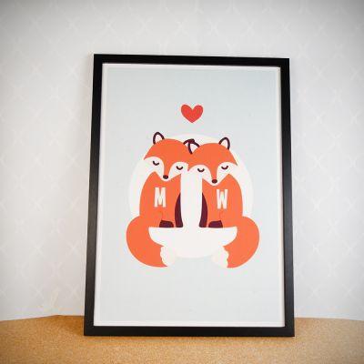 Valentijnscadeau voor haar  - Vos – Personaliseerbare poster