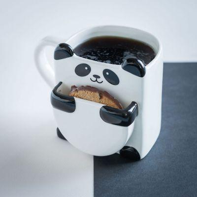 Verjaardagscadeaus voor 18 - Panda mok met koekjeshouder