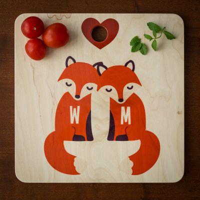 Exclusieve snijplanken - Personaliseerbare vos snijplank