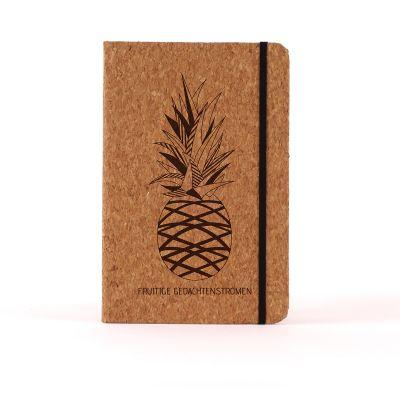 Paascadeau - Personaliseerbaar Kurken Notitieboek - Ananas