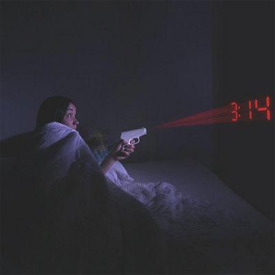Klokken - Pistolen projectie wekker