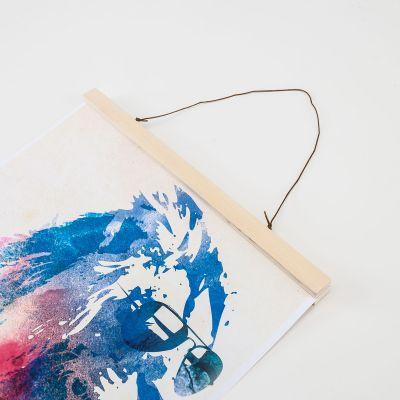 Decoratie - Houten Posterhanger