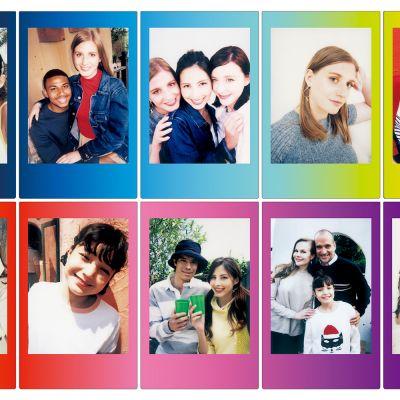 Camera & foto - Fuji Instax film met gekleurde kaders